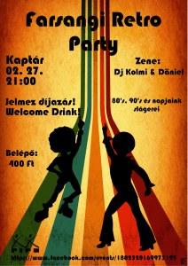 Farsangi retro party